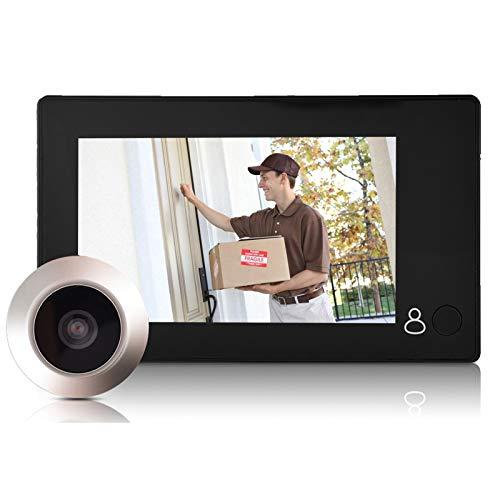 Vbestlife 3 MP Visor de Mirilla de Puerta Digital TFT 4.3' Monitor de Cámara de Seguridad HD de Ángulo Amplio de 140 °