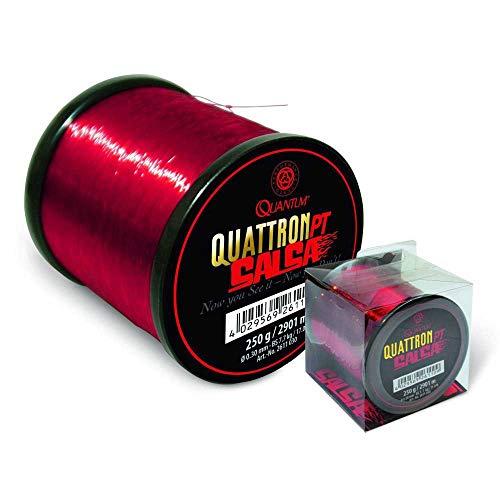 Quantum Quattron Salsa, Bobina Grande. Unisex-Adulto, Rosso Trasparente, Taglia Unica