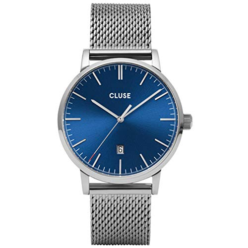Cluse Aravis herenhorloge kwarts 40 mm stalen band CW0101501004...