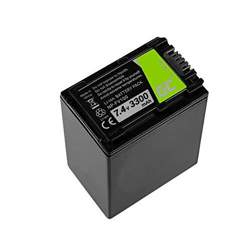 Green Cell® Kamera-Akku für Sony HDR-PJ810E, Full Decoded (Li-Ion Zellen 3300mAh 7.4V Schwarz)