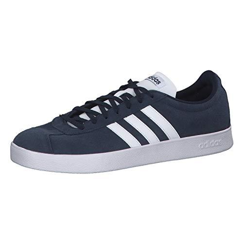adidas Herren VL Court 2.0 Fitnessschuhe, Blau (Maruni/Ftwbla 000), 42 2/3 EU