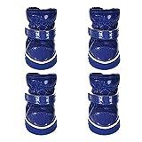 Overhil1s Zapatos Perro, Zapatos for Perros de Mascotas de Invierno for Perros pequeños Perrito Caliente Perrito Zapatos de Mascotas a Prueba de Nieve Zapatos de Botas de Nieve Productos for Mascotas