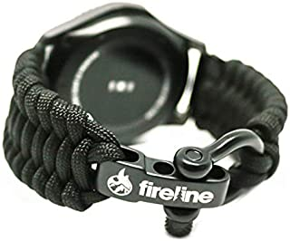 FireLine 22mm Paracord Watchband Tactical Band for Emergency and Survival | Firefighter Owned | Stainless Steel | Fits Samsung Gear S3