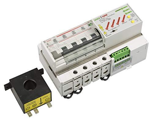 Disyuntor Magnetotérmico Trifásico con protección por sobreintensidad, diferencial, baja tensión y sobretensión, con Rearme Automático LED707 (32A, 2 milisegundos)