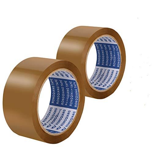 DLOPK Cintas adhesivas de embalar, utilizadas para el embalaje y sellado, eliminación de polvo de ropa/teclado/piso, etc, 48MM * 66M * 45U (2 unidades)