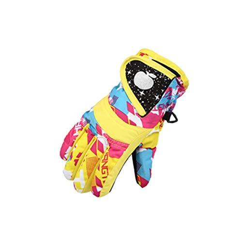 TWBB Damen Kinder Skihandschuhe für 3-7 Jahre Jungen Mädchen, Winter Warme Handschuhe wasserdichte Winddichte Schneehandschuhe rutschfest Outdoor Sport Skifahren Wandern Radfahren