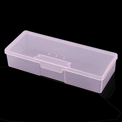 S-TROUBLE Neue transparente Leere Nagel Aufbewahrungsbox Maniküre Werkzeuge Organizer Kofferhalter