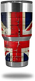 Skin Decal Wrap for Yeti Tumbler Rambler 30 oz Painted Faded and Cracked Union Jack British Flag (TUMBLER NOT INCLUDED)