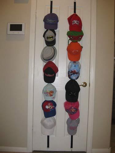 Gorra de béisbol para almacenamiento. Se puede utilizar para dos habitaciones después de la puerta. Excelente soporte organizador de almacenamiento de bola para sombreros.