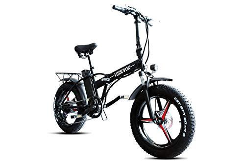 VOZCVOX Ebike 48V Bicicleta Electrica Plegable 20', 500W, Bici Electrica Urbana Ligera para Adulto con 3.5' Instrumento LCD
