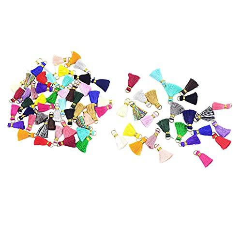 joyMerit Charms Tassel Kit Colgantes de Encanto de Borla de Metal a Granel de Colores Mezclados para Niña DIY