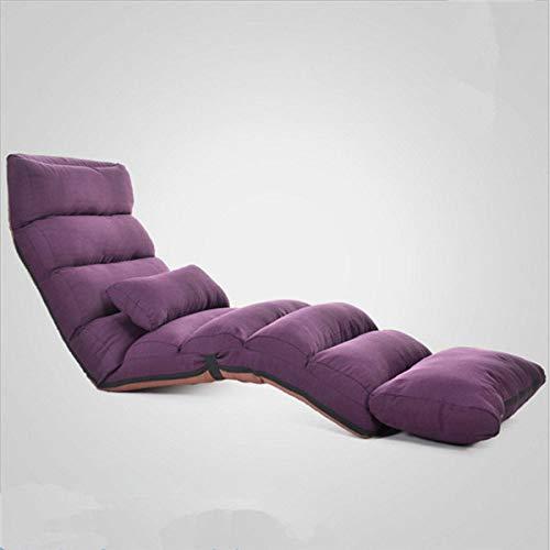 Stoel LKU Slaapbank lounge gestoffeerde fauteuil indoor woonkamer fauteuil 5 kleuren opvouwbare vloer verstelbaar, paarse kleur