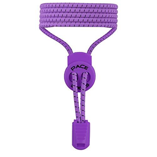 ALPHAPACE PACE Locks – Elastische Schnürsenkel mit Schnellverschluss – Schnellschnürsystem für einzigartigen Komfort, perfekten Sitz und starken Halt – 100% Zufriedenheitsversprechen (Lila)