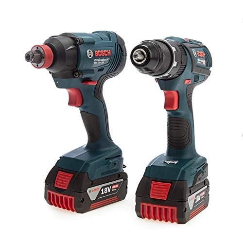 Bosch 06019G5275 Professional Twin Pack - GSB18V-28 Combi Drill + GDX 18V-180 Impact Driver/Wrench (2 x 4.0Ah Batteries)