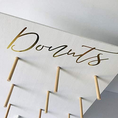 dyudyrujdtry Mooie Hot-gestempelde Letter Donut Plank Inch Houten Donut Booth decoratie-goud-gestempelde enkele rij Delicate Donut Plank Sieraden