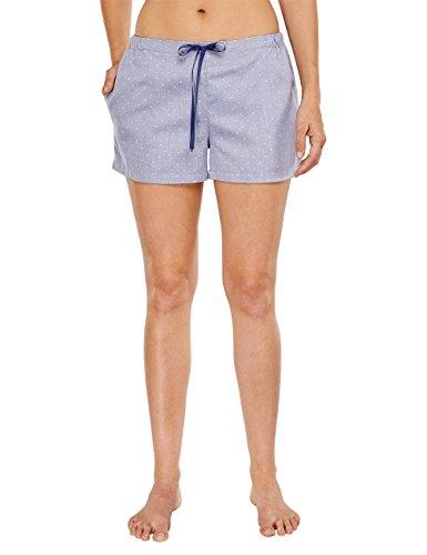 Schiesser Damen Web Shorts Schlafanzughose, Blau (dunkelblau 803), 38