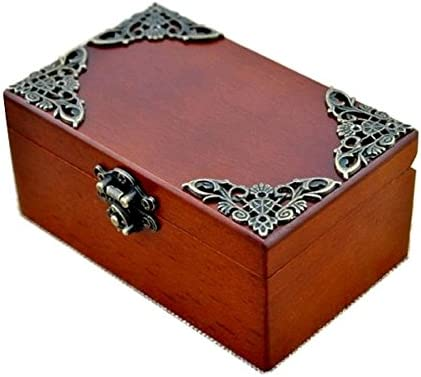 Anakin.jerry Vintage Wood wholesale Rectangle Jewelry Music Up Box Wind OFFer :