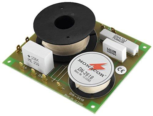 MONACOR DN-2618 2-Wege-Weiche 8 ohm, Hochwertige Bauteile, Belastbarkeit 350W für den Innenbereich mit Folienkondensatoren gefertigt
