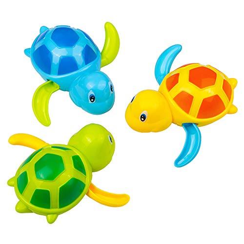 GWHOLE 3 Tortugas Juguetes de Baño Juguetes de Agua Juguete de Piscina Tortugas Juegos Acuáticos Regalo Verano Niños