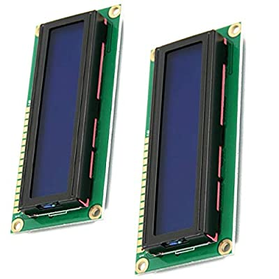 2pcs HD44780 1602 LCD Display Module DC 5V 16x2 Character LCM LCD Display Screen Blue Blacklight