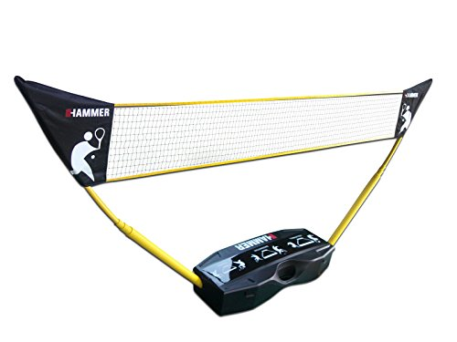 Hammer 2021-3-in-1 Net Set for Volleyball, Badminton and Tennis