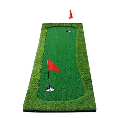 BOBURN Golf Putting Green/Mat-Golf Training Mat- Professional Golf Practice Mat- Green Long Challenging Putter for Indoor/Outdoor (Green, 5x10ft)