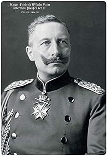 Cartel de Chapa genérica 20 x 30 cm Kaiser Friedr. Guillermo II De Preussen Cartel Tin Sign
