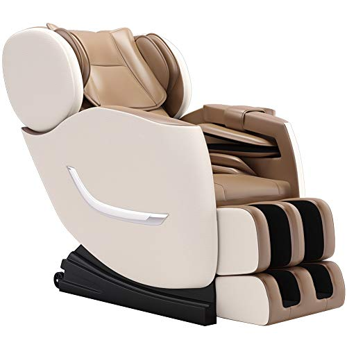 FOELRO 2020 New Zero Gravity Recliner,Shiatsu Full Body Electric Massage Chair Built-in Bluetooth for Shoulders,arms,Back,Waist,Buttocks,Legs and feet (Khaki)