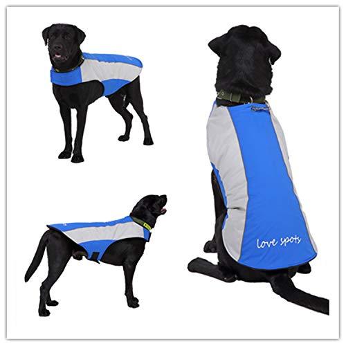 qiangdedianzishang Winterkleidung für Hunde, für große Hunde, reflektierend, Mehrfarbig