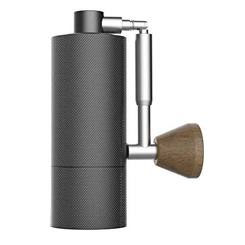 TIMEMOREタイムモア NANOコーヒーミル 手挽きコーヒーグラインダー コンパクト 小型ハンドルが曲がる ステンレス臼 アルミボディ 容量15g 36段階粗さ調整可能 省力 均一 coffee grinder (ブラック)