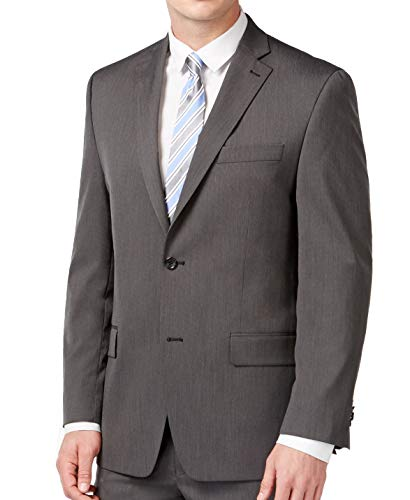Michael Michael Kors Mens Pindot Notch Lapel Two-Button Blazer Gray 42S
