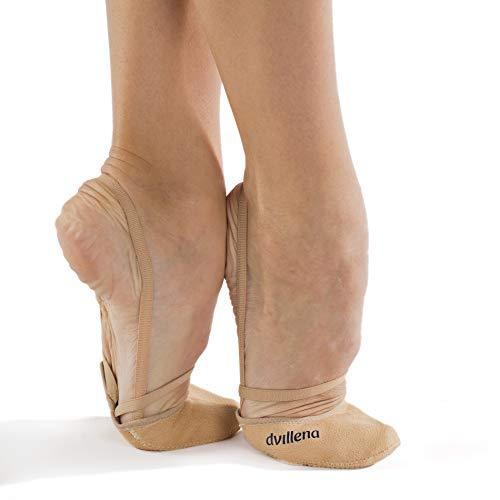 dvillena - Modelo Competicion Sandra | Famosa Marca de Punteras de Gimnasia Rítmica Niña y Mujer | Las Puntas que usan grandes Gimnastas Mundiales | Bailarinas Aérobica Deporte Danza Zapatillas Ballet