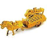 葬儀ゴールデンキャリッジ祖先マネー儀式が葬儀清明空腹盂蘭盆-イエローゴールドのために地獄銀行ノート用品 (Color : Gold)