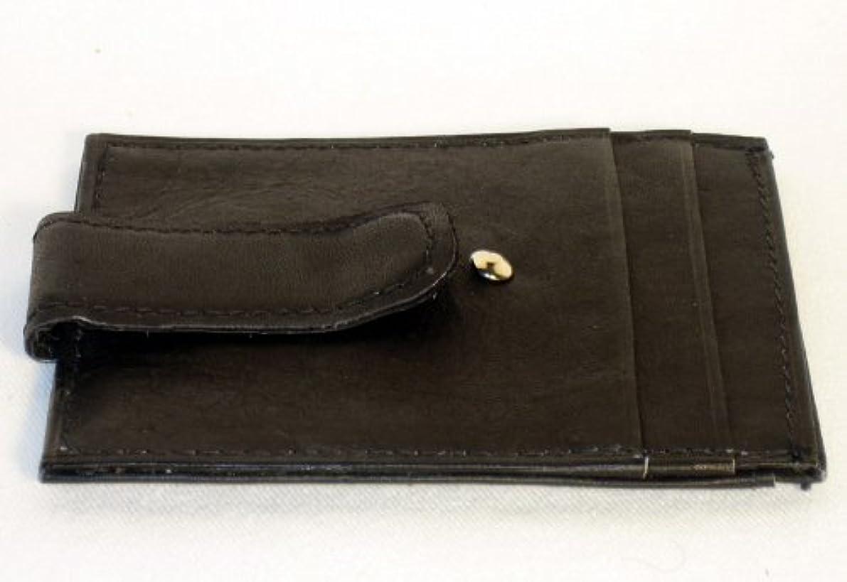 フルート歌エゴイズム新しい本革シンメンズマネークリップフロントポケット財布IDカードホルダー新しい