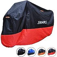 Smarcy Funda Protector para Moto, Cubierta para Moto / Motocicleta Resistente al Agua a Prueba de UV, Color Rojo / Negro XXL