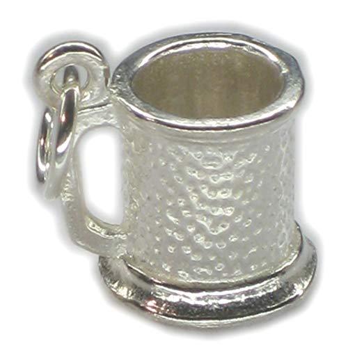 Boccale-Ciondolo in argento sterling 925 a forma di boccale di birra, bicchieri x Ale BJ1029 charms
