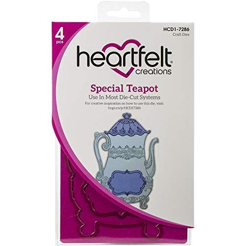 Bundle Heartfelt Creations Dies+Stamps Tea Time Collection: Special Teapot, HCD17286+HCPC3903