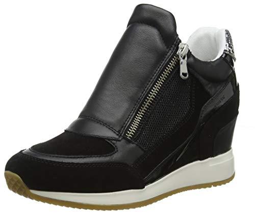 Geox D NYDAME A, Zapatillas Altas Mujer, Black C9997, 41 EU