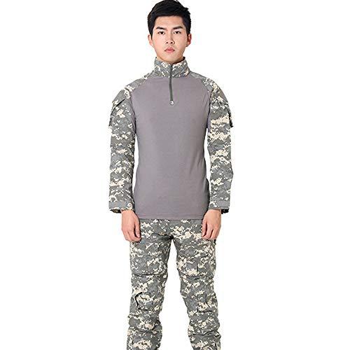 QAZW Les Costumes d'entraînement de Camouflage en Plein air pour Hommes Peuvent Choisir des Couleurs Plus Confortables et Plus Belles Vêtements Tactiques Militaire Paintball Uniforme Costume J -XL