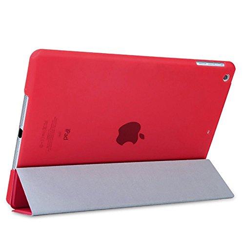 Para iPad Mini 1/2/3, nuevo protector de funda Case Carcasa de encendido inteligente de piel reversible rojo