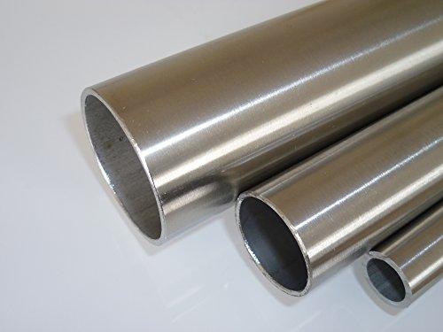 B&T Metall Edelstahl Rundrohr geschliffen, Ø 26,9 x 2 mm (1