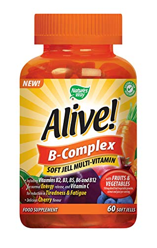 Alive! B-Complex Soft Jell Multivitamins - 60 chewable Gummies