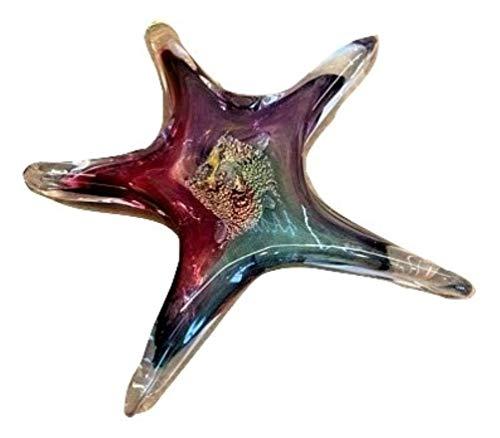 Luke Adams Handmade Blown Glass Small Starfish Suncatcher