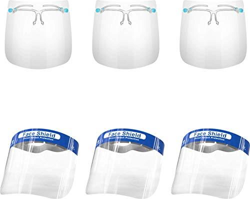 Special Bundle Set 3 + 3 Glass Face Shield & Blue Face Shield Bundled Together! Have the Best of Both Worlds.Get 3 Glass face Shields & 3 Blue Face Sheilds. Face Protection