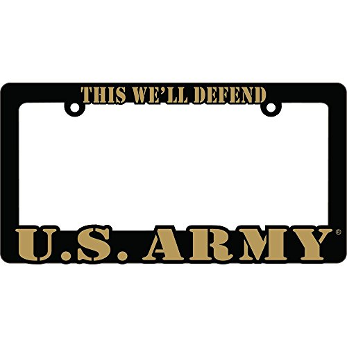 US ARMY Proud to Serve Auto License Plate Frame USA by Eagle
