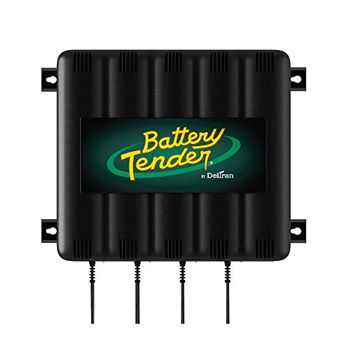 Battery Tender 4-Bank: 12V, 1.25 Amp Battery Charger - 12V Battery Charging Bank with 4 Ports - Simultaneously Charges and Maintains Up to Four Batteries - 022-0148-DL-WH