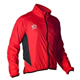OPTIMUM Chaqueta para Hombre Hawkley Cycling Stowaway, Rojo, Mediano, Unisex-Adult, Medium