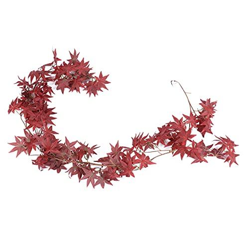 Folhas falsas, simulação de folha de plástico artificial para geladeira para manter a frescura(1.8m red maple)
