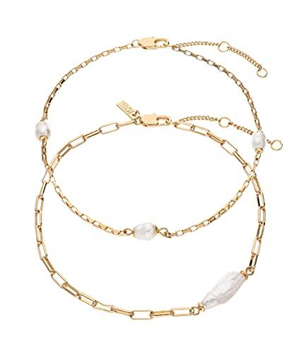 TOSH Trendy 1002638 - Tobillera con perlas cultivadas para mujer