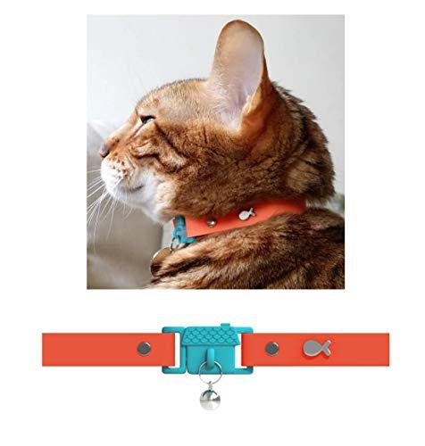 猫の首輪 イギリス発祥「国際猫ケア」世界初 首輪賞を受賞!色:オレンジ